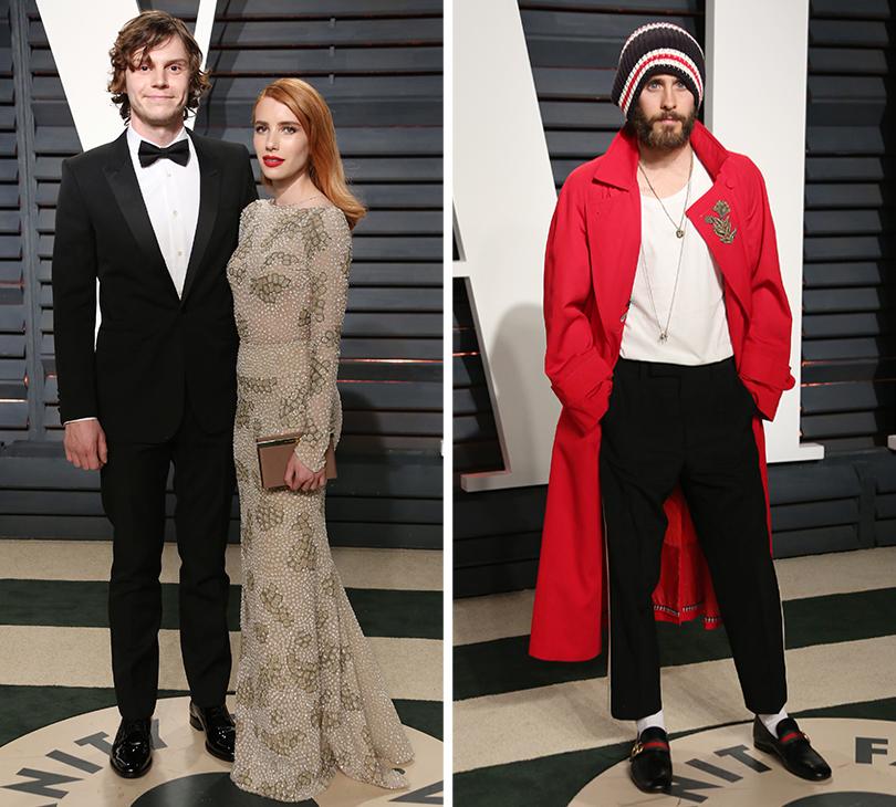 Oscars Special 2017: звезды навечеринке Vanity Fair Oscar Party. Эван Петерс и Эмма Робертс. Джаред Лето