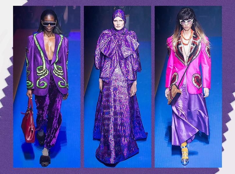 «Ультрафиолет» вколлекции Gucci сезона Spring/Summer 2018