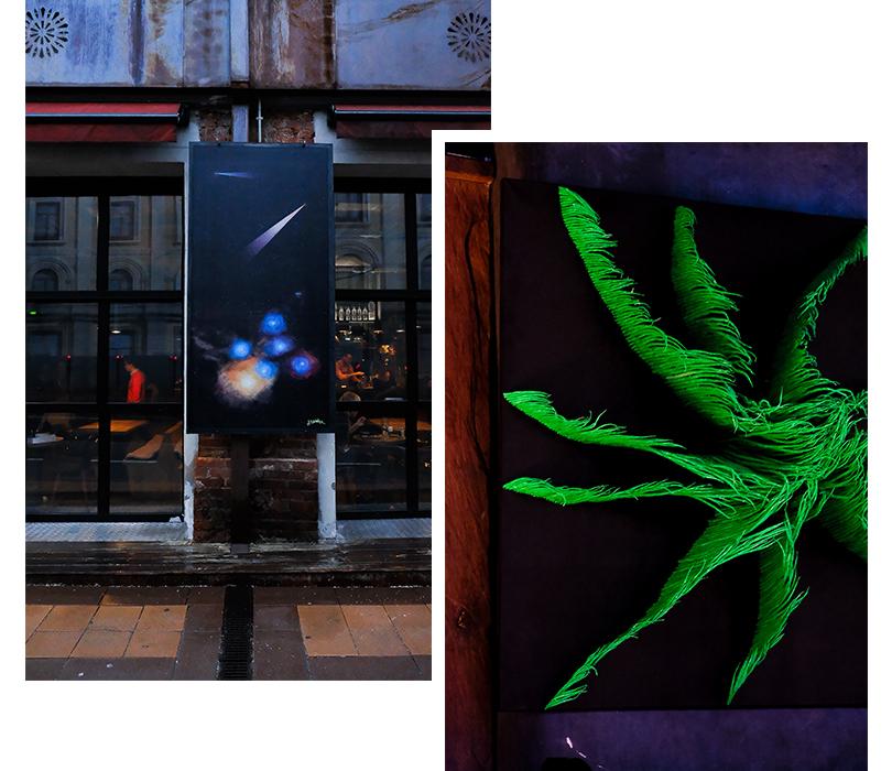 Как молодые российские художники штурмуют московские рестораны. Антон Тотибадзе (ресторан Ugolek), Глеб Скубачевский (ресторан «Северяне»)