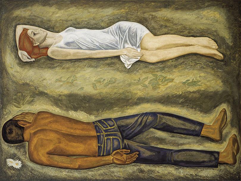 Art Weekend вМоскве: «Оттепель» вТретьяковской галерее наКрымском Валу. Виктор Попков. «Двое», 1966г.