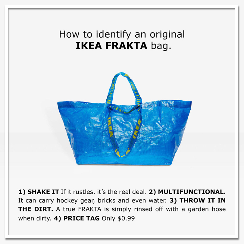 Обман зрения: как неперепутать пакет IKEA ссумкой Balenciaga