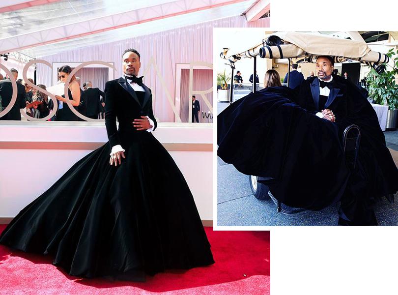 Фото дня: актер Билли Портер в платье-смокинге