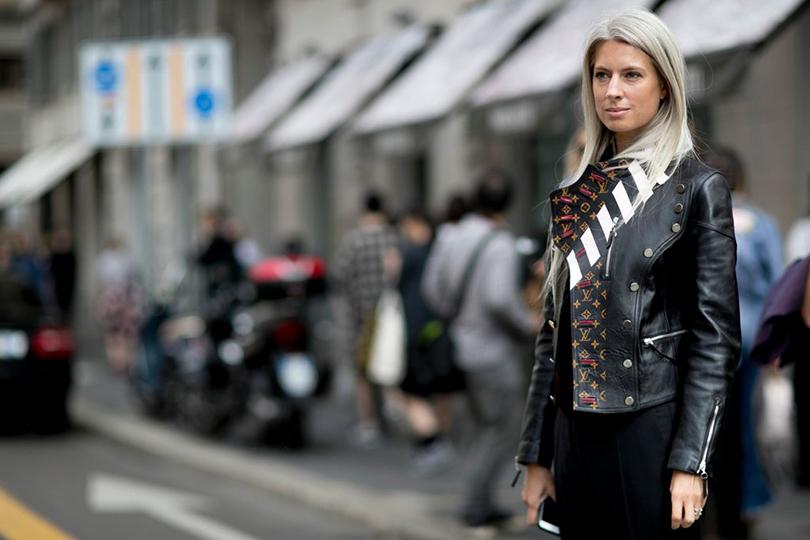 Street Style: уличный стиль на Неделе моды в Милане. Сара Харрис