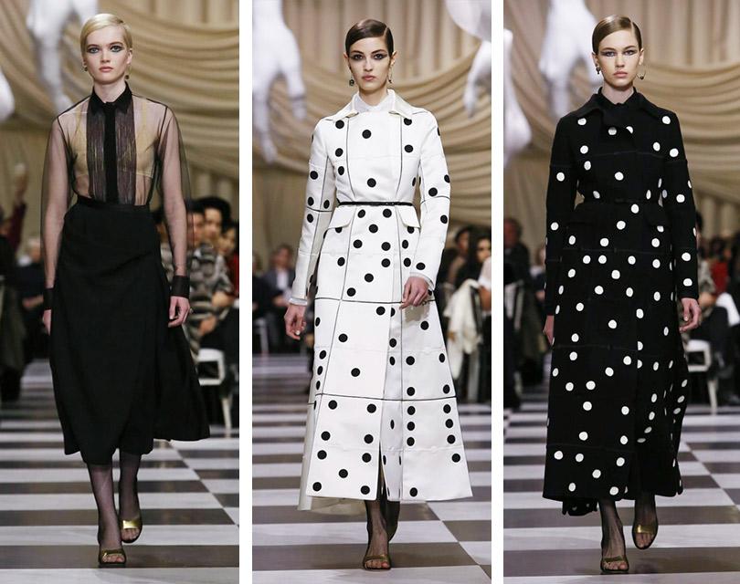 Сюрреалистическое черно-белое шоу Christian Dior Couture врамках Недели высокой моды вПариже