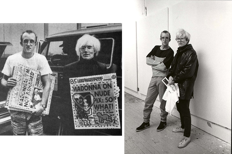 Кит Харинг иЭнди Уорхол, 1987г.