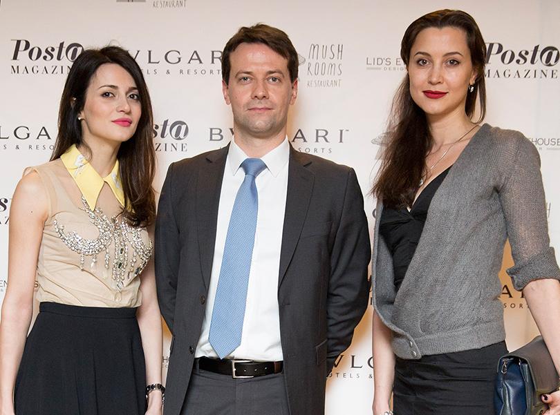 Марина Изилова, Себастьен Легран (Bvlgari London) и Катерина Переладова