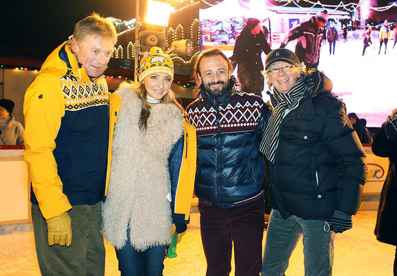 Дмитрий Песков, Татьяна Навка, Илья Авербух и Игорь Укупник