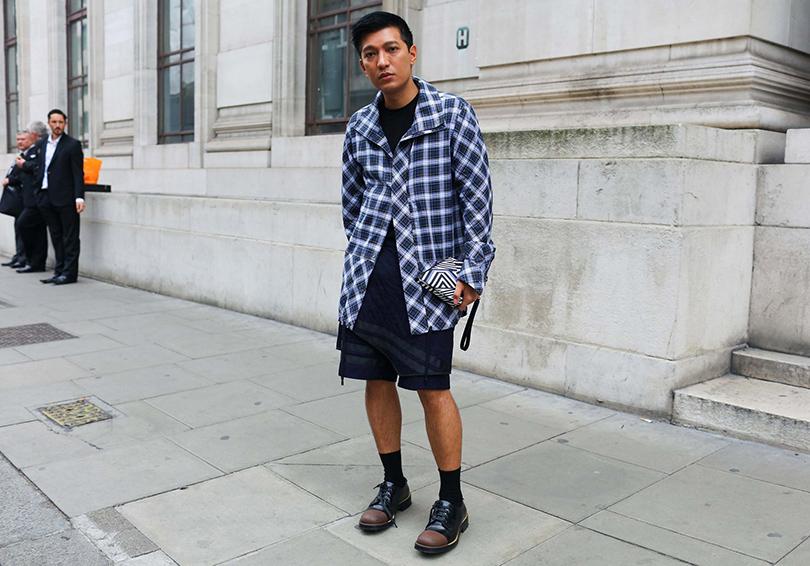 Street Style: лучшие образы на неделях мужской моды. Блогер Брайан Бой