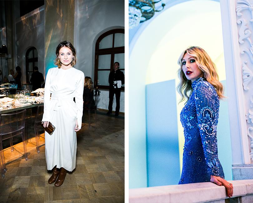Гала-ужин Tiffany&Co.послучаю открытия нового магазина вМоскве. Анастасия Рябцова. Анна Антимоний