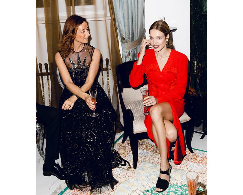 Наташа Хошет-Рааб (директор по маркетингу Dior Europe) и Наталья Водянова