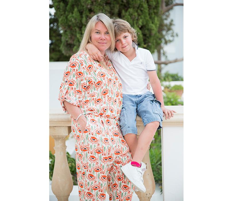Anassa Hotel, Кипр. Наталья Боброва с сыном Тимофеем