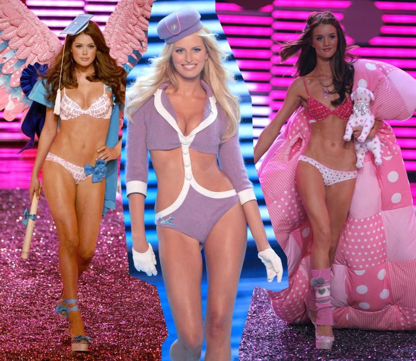 Style Notes: секреты Victoria's Secret. Как превратить бренд в культурный феномен? 2006 год. На подиуме мы видим Каролину Куркову и Даутцен Крус. Открытие новой линии PINK — ее представляет Роузи Хантингтон-Уайтли.