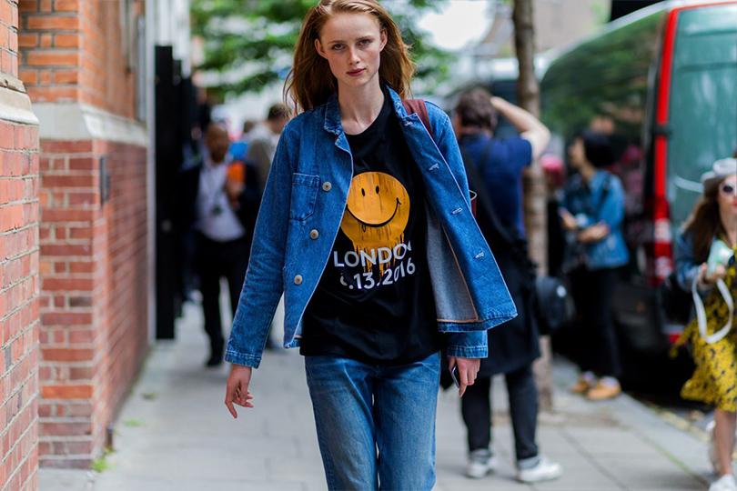 Street Style: лучшие образы на неделях мужской моды. Рианна ван Ромпей