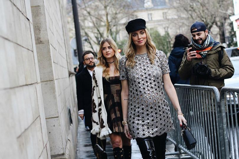 Street Style: лучшие образы уличной моды сParis Couture осень-зима— 2018. Кьяра Ферраньи