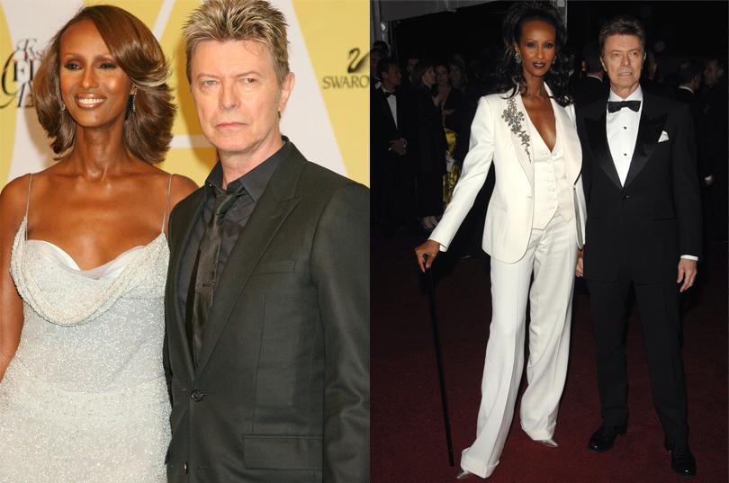 Боуи со второй женой моделью Иман