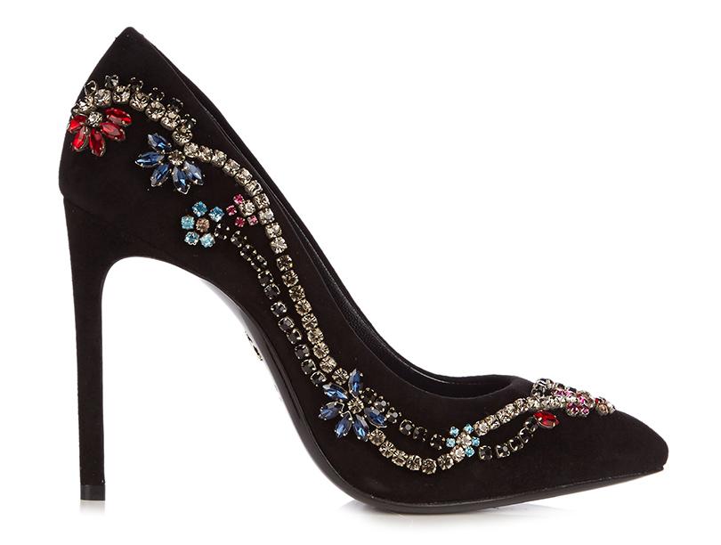 Новый год. Дресс-код: 28лучших пар обуви для новогодней вечеринки. Расшитые разноцветными кристаллами туфли Lanvin