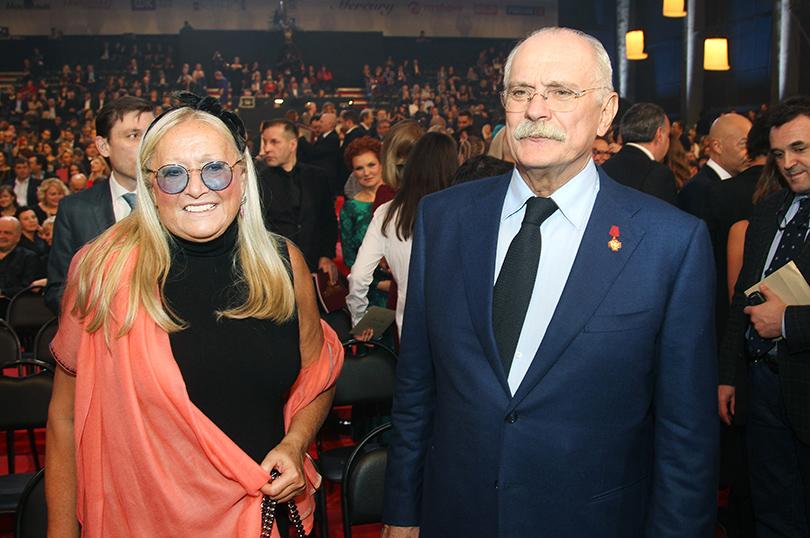 Церемония «Золотой орел-2015» на «Мосфильме»: Никита и Татьяна Михалковы