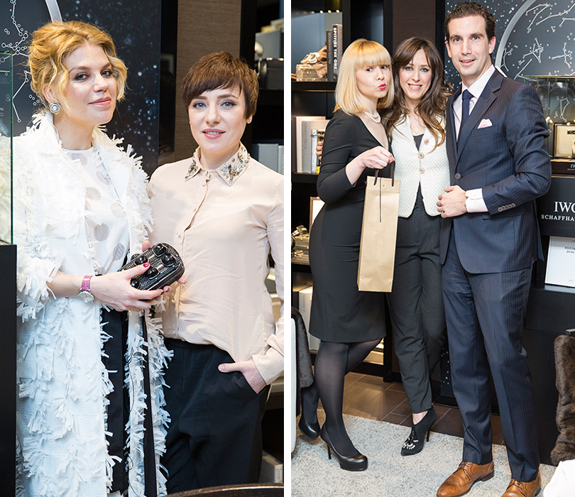 Тутта Ларсен и Липа; Томас Перини (IWC), Екатерина Павлова (Wine-R) и счастливая обладательница розе Miraval