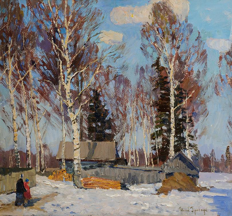 Игорь Грабарь. «Зимний пейзаж» (1940-1950-е гг.)