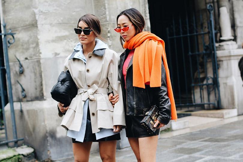 Street Style: лучшие образы уличной моды сParis Couture осень-зима— 2018. Камила Коэльо и Эйми Сонг