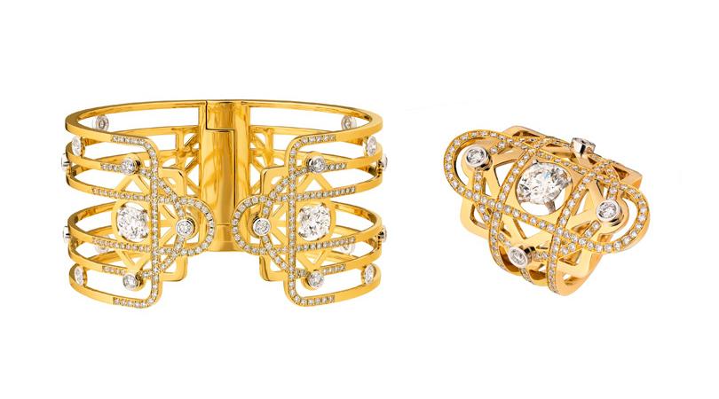 Первая «высокая» ювелирная коллекция Chanel, созданная для России. Браслет икольцо Dimitri