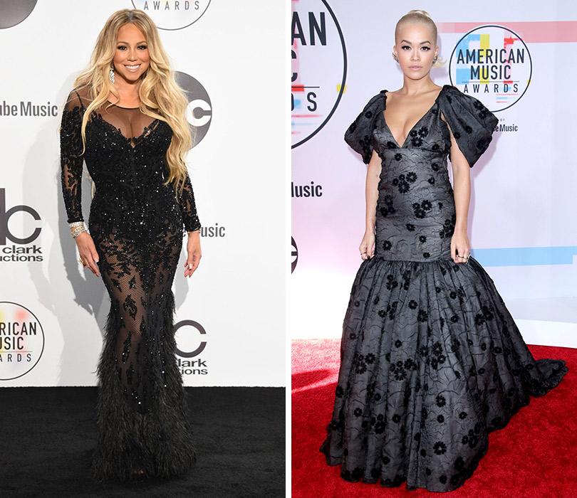 Самые яркие образы с ковровой дорожки American Music Awards. Мэрайя Кэри. Рита Ора