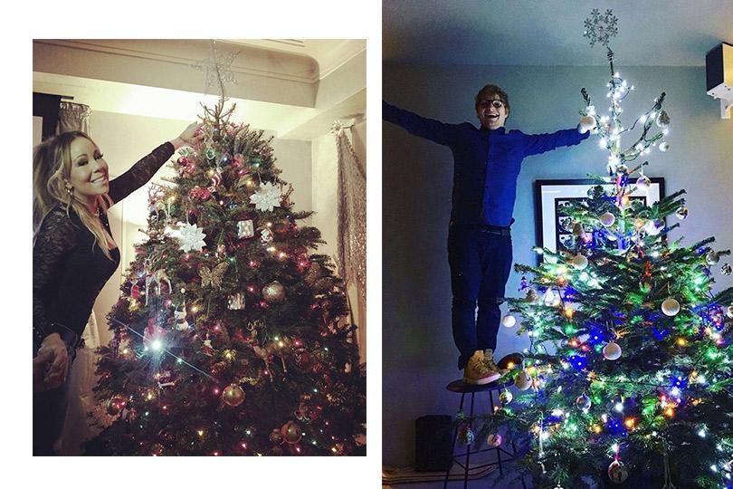 Инстаграм недели: дух Рождества— самые красивые елки зарубежных знаменитостей. Мэрайя Кэри. ЭдШиран