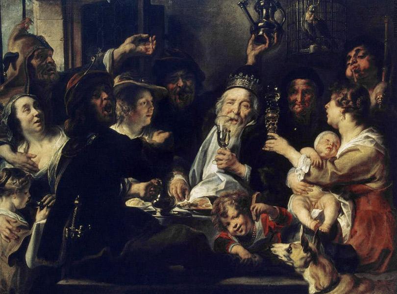 Якоб Йорданс. Бобовый король. 1637-1638