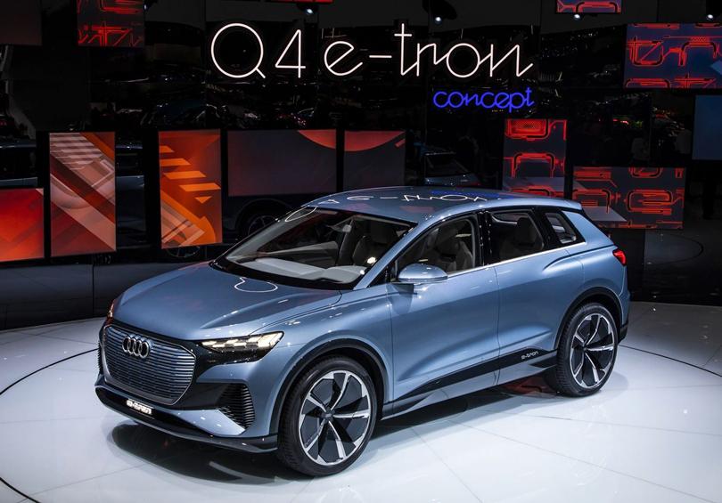 Cars with Jan Coomans. Geneva International Motor Show 2019. Audi Q4 e-tron