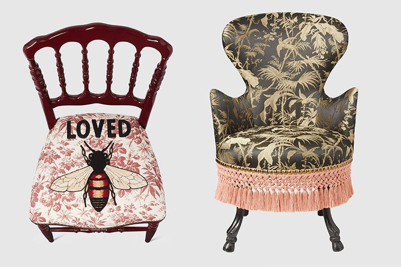 Новая коллекция Gucci Décor: монограммы, насекомые идополненная реальность