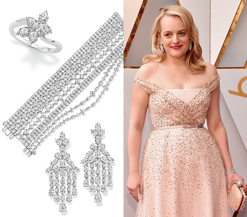 Часы &Караты: роскошные украшения церемонии «Оскар». Элизабет Мосс