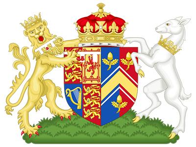 Кейт. Объединенный герб герцога игерцогини Кембриджских