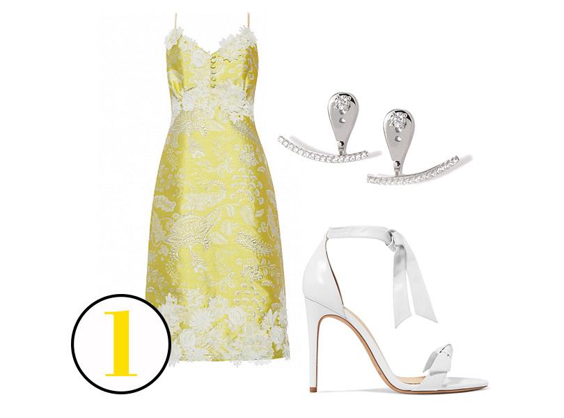 Платье, A.Ya (DressOne.ru); босоножки, Alexandre Birman (Net-a-Porter); серьги сфианитами, Dzhanelli Jewellery