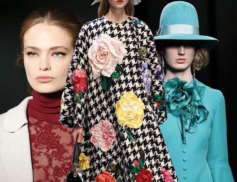 Тренды осени: цветочные мотивы— наподиуме иваромате Supra Floral изколлекции Les Exceptions отMUGLER