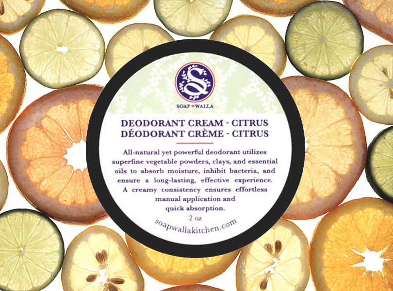 Total Beauty: красавицы не потеют? Натуральные дезодоранты и другие методы борьбы с потоотделением. Soapwalla Citrus Deodorant Cream