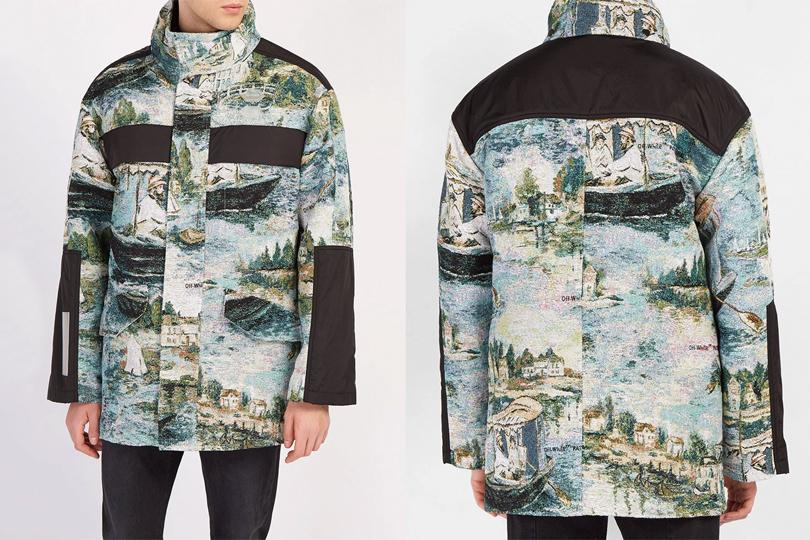 Вещь дня: парка и пончо из мужской коллекции Off-White по мотивам картин Эдуарда Мане