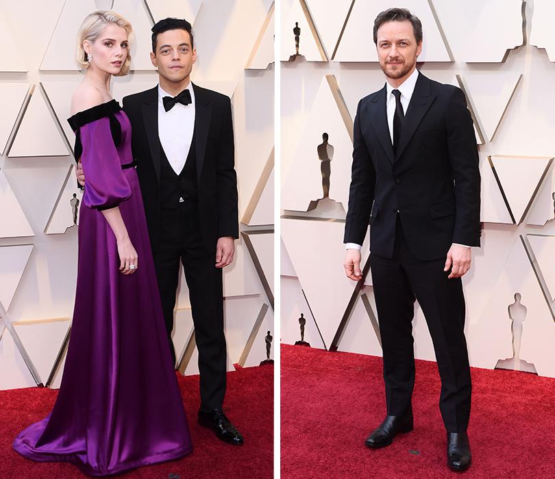 Самые стильные мужчины 91-й церемонии «Оскар». Рами Малек иЛюси Бойнтон. Джеймс Макэвой
