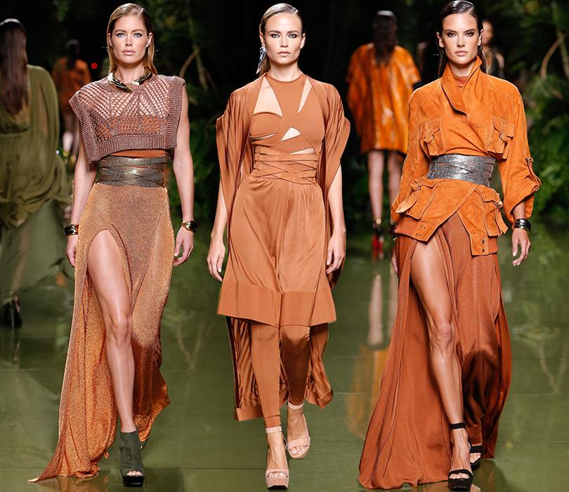 Style Notes: «модная армия» Оливье Рустена на показе Balmain