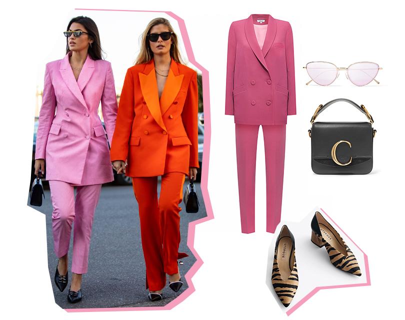 5 монохромных стритстайл-образов с Недели моды в Милане, которые вы будете носить уже этой весной. Костюм, Girlpower (DressOne); туфли, Uterque; сумка, Chloé; солнечные очки, Illesteva