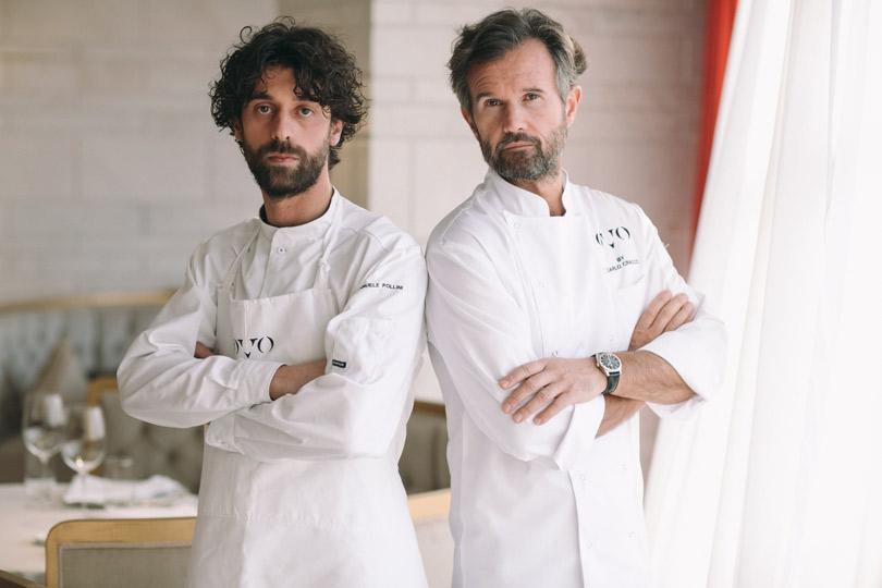 Карло Кракко ишеф-повар ресторана OVO Эмануэле Поллини