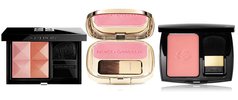 Givenchy Le Prisme Blush в оттенке Spice, Lancôme Blush Subtil в оттенке Figue Espiegle или Dolce & Gabbana в оттенке Provocative