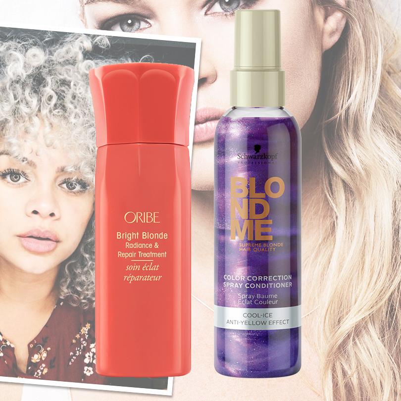 Hair & Style: с новым блондом! Как сохранить цвет волос без желтизны. Спрей-уход «Сияние и восстановление для светлых волос» от Oribe и спрей-кондиционер Color Correction Blond Me от Schwarzkopf Professional