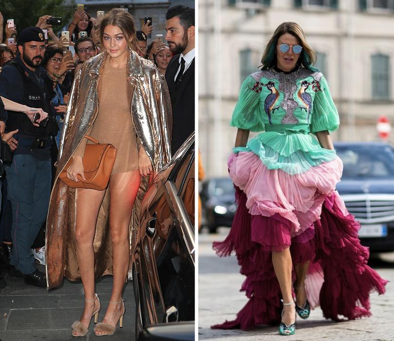 Street Style: уличный стиль на Неделе моды в Милане. Джиджи Хадид.  Анна Делло Руссо