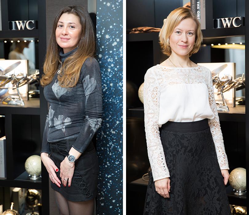 Анна Аникеева (IWC) (справа)
