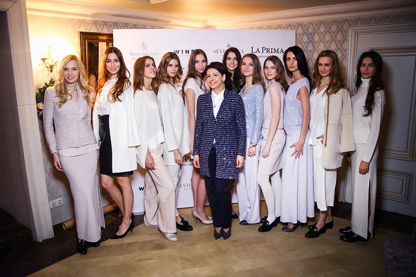 Марина Варданян с моделями Amina Rubinacci