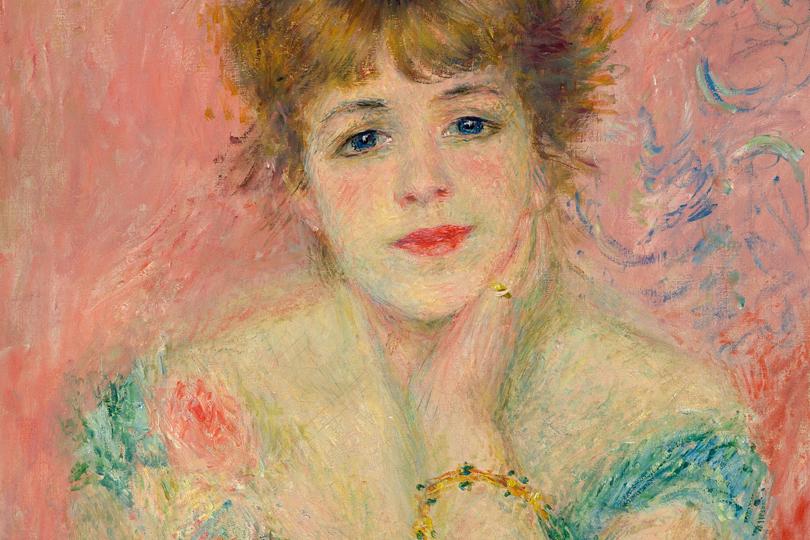 Пьер Огюст Ренуар. Портрет актрисы Жанны Самари.1877