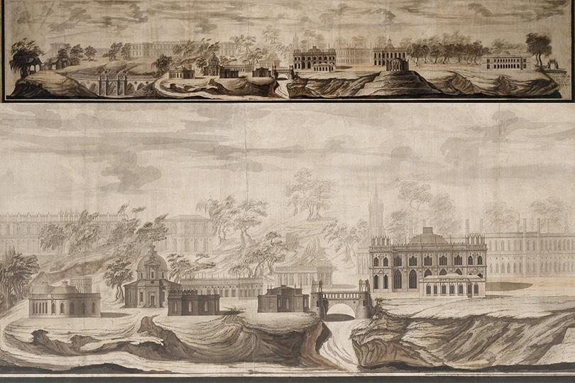Василий Баженов. Панорама Царицыно.1776