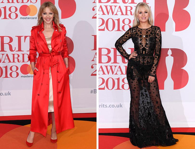 Рита Ора идругие гости премии Brit Awards 2018. Кайли Миноуг. Лотти Мосс