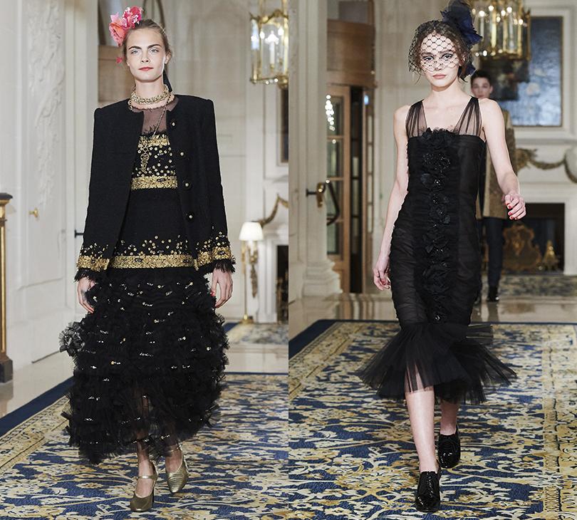 Style Notes: дебют Лили-Роуз Депп напоказе Chanel Métiers d'Art. Кара Делевинь. Лили Роуз-Депп
