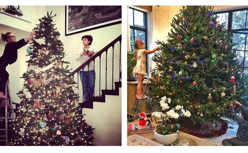 Инстаграм недели: дух Рождества— самые красивые елки зарубежных знаменитостей. Шэрон иКелли Осборн. Жизель Бюндхен